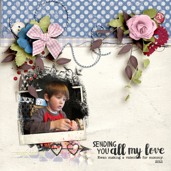 Digital layout using Be My Valentine Bundle by On A Whimsical Adventure