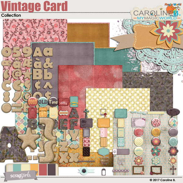 A Vintage Card Collection by Caroline B.