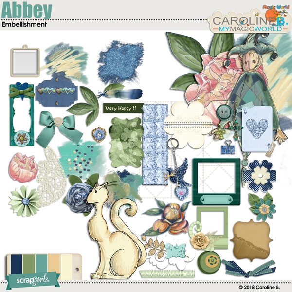 Abbey Embellishment by Caroline B.
