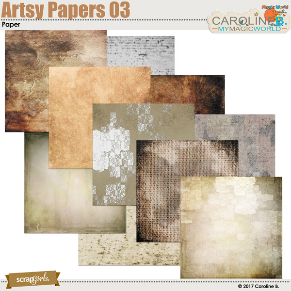 Artsy Papers 03 by Caroline B.
