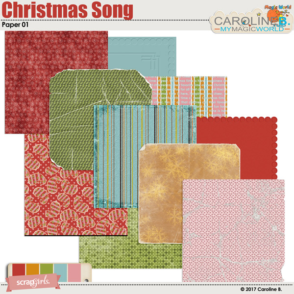 Christmas Song Paper 01 by Caroline B.