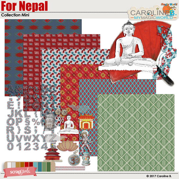 For Nepal Collection Mini by Caroline B.