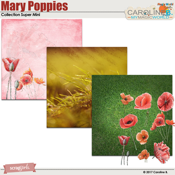Mary Poppies Collection Super Mini by Caroline B.