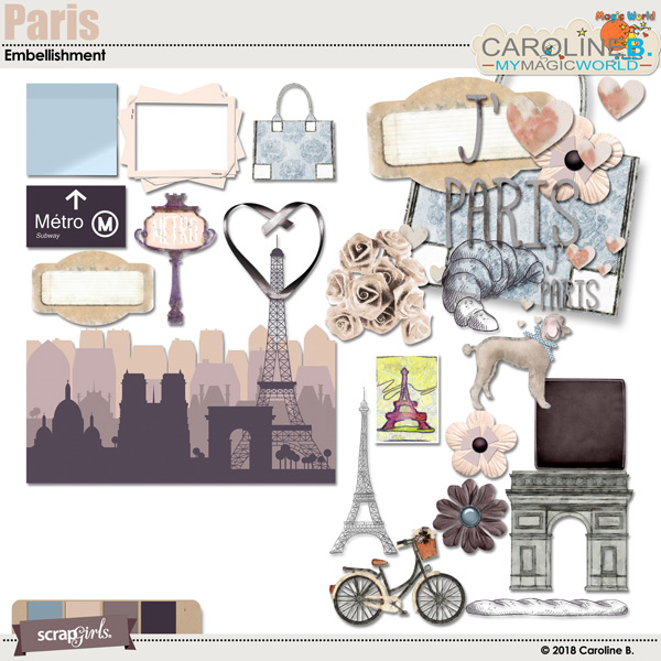 Paris Embellishment by Caroline B.