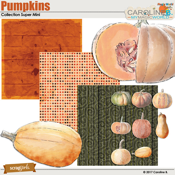 Pumpkins Collection Super Mini by Caroline B.