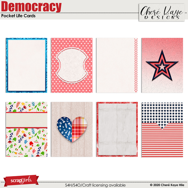 Democracy Pocket Life Cards by Chere Kaye Designs