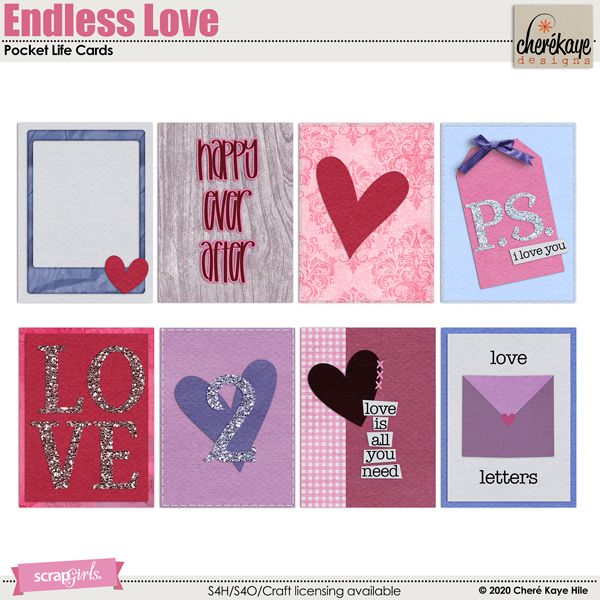 Endless Love Pocket Life Cards by Chere Kaye