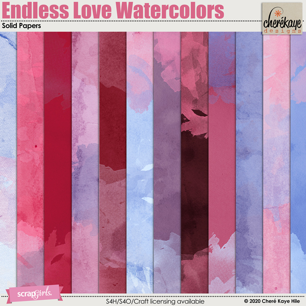 Endless Love Watercolor Papers by Chere Kaye Designs