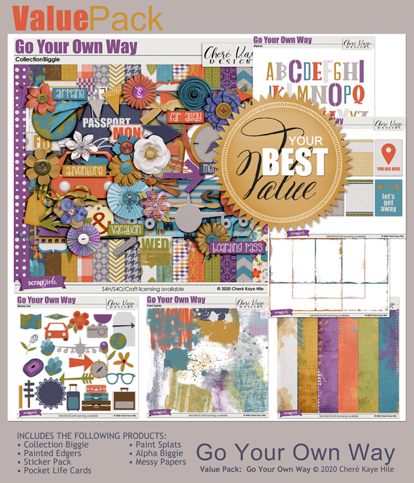 Value Pack: Go Your Own Way by Chere Kaye Designs