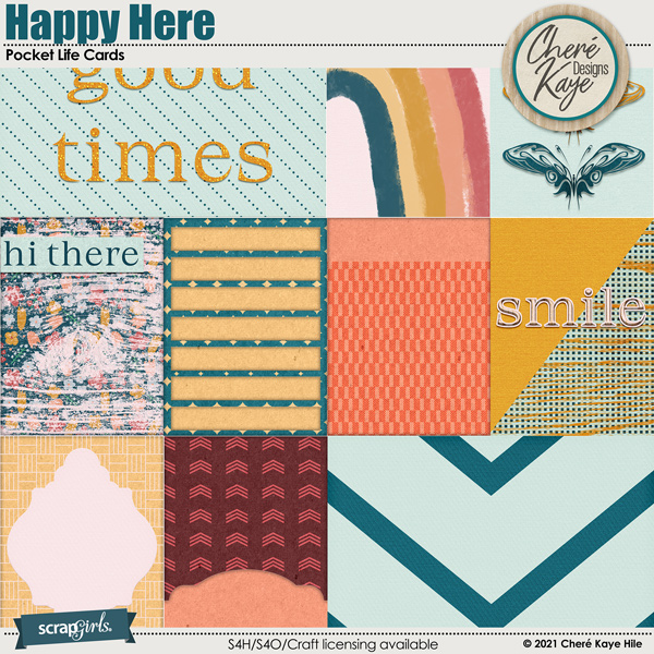 Happy Here Pocket Life Cards