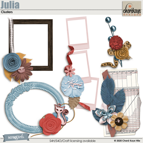 Julia Cluster Embellishments by Chere Kaye Designs