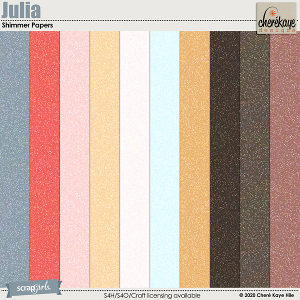 Julia Shimmer Papers by Chere Kaye Designs