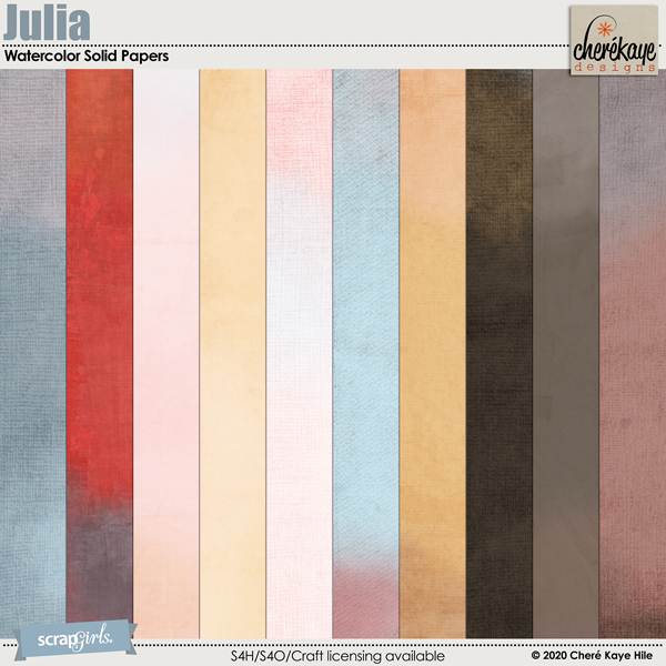 Julia Watercolor Solid Papers