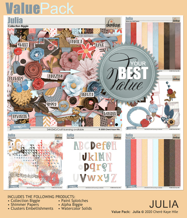 Value Pack: Julia by Chere Kaye Designs
