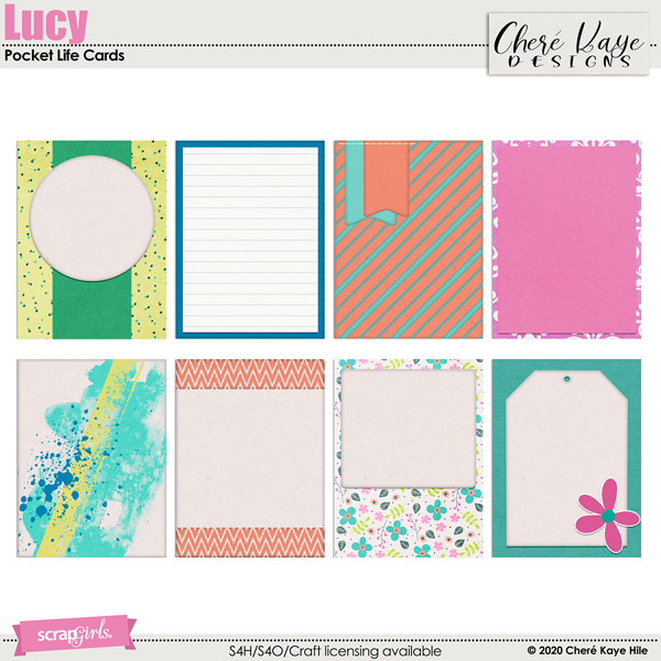 Lucy Pocket Life Cards by Chere Kaye Designs