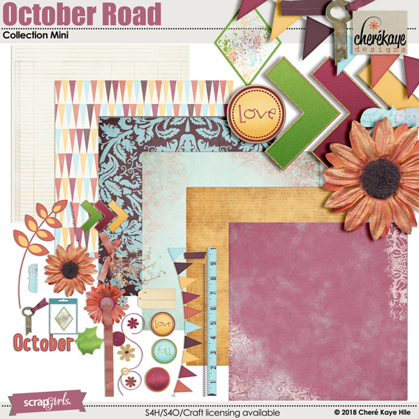 October Road Collection Mini by Cheré Kaye Designs