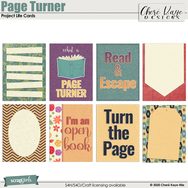Page Turner Pocket Life Cards by Chere Kaye Designs