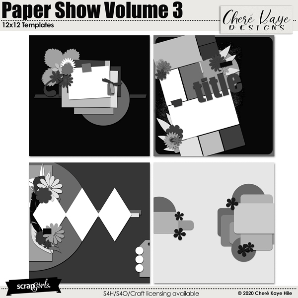 Paper Show Volume 3 12x12 Templates by Chere Kaye Designs