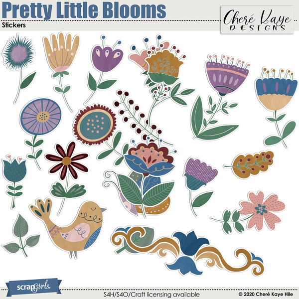 Pretty Little Blooms Stickers by Chere Kaye Designs