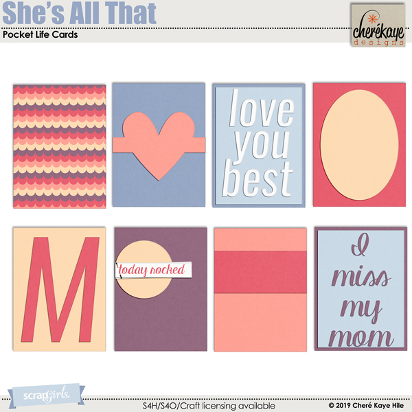 She's All That Pocket Life Cards by Cheré Kaye Designs