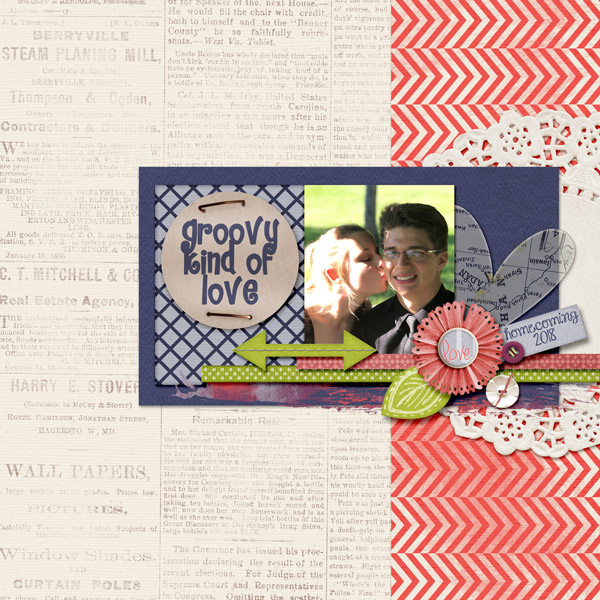 """Groovy Kind of Love"" layout by Cheré"