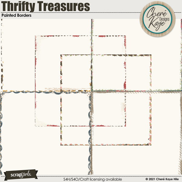 Thrifty Treasures Painted Borders