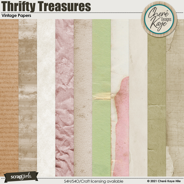 Thrifty Treasures Vintage Papers