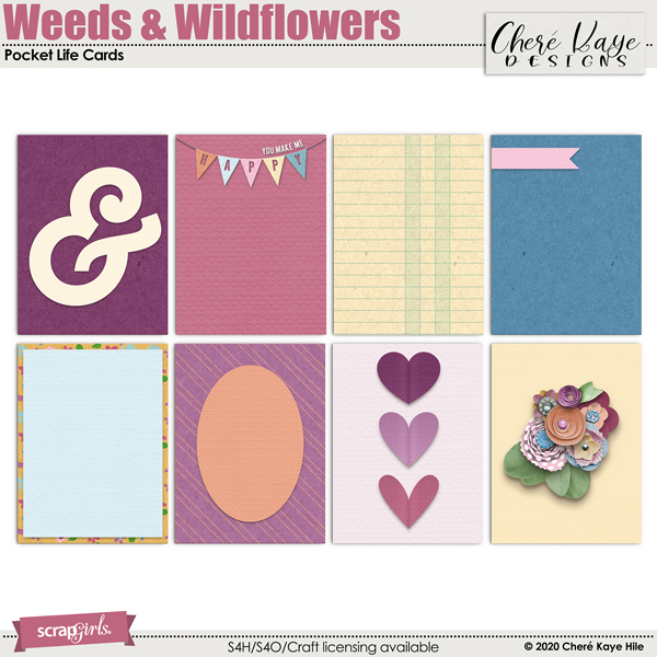 Weeds & Wildflowers Pocket Life Cards by Chere Kaye Designs
