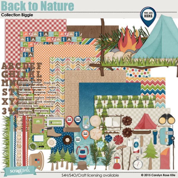 Back to Nature Collection Biggie by Carolyn Rose Kite