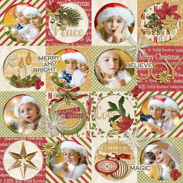 Merry and Bright Layout by CTM Julie