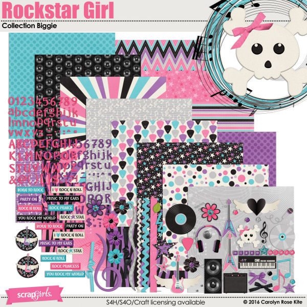 Rockstar Girl Collection Biggie by Carolyn Rose Kite