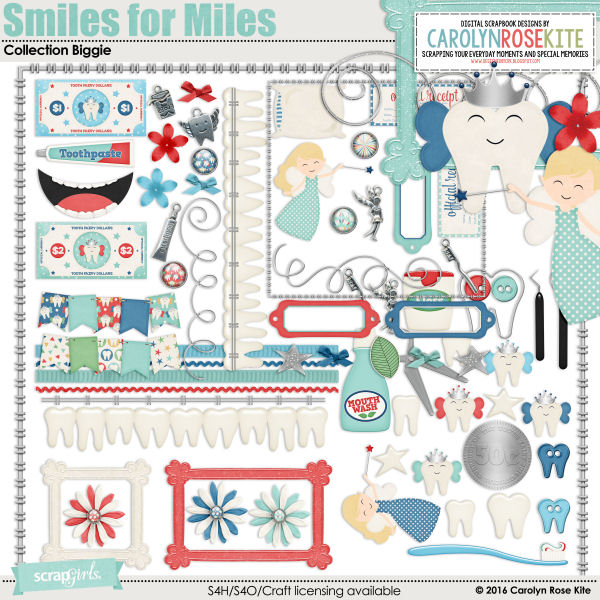 Smiles for Miles Embellishments Biggie