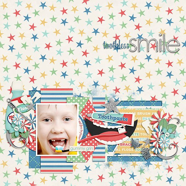 Toothless Smiles Layout by CTM Julie W
