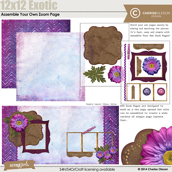 Assemble Your Own Zoom Pages - Exotic