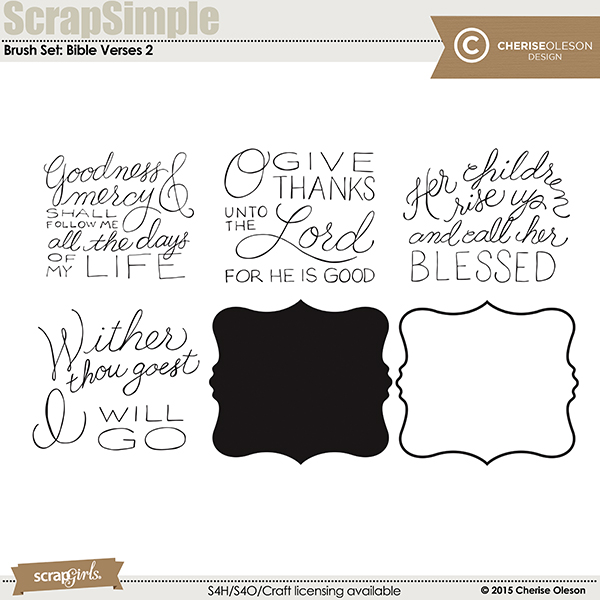 Brush Set: Bible Verses 2