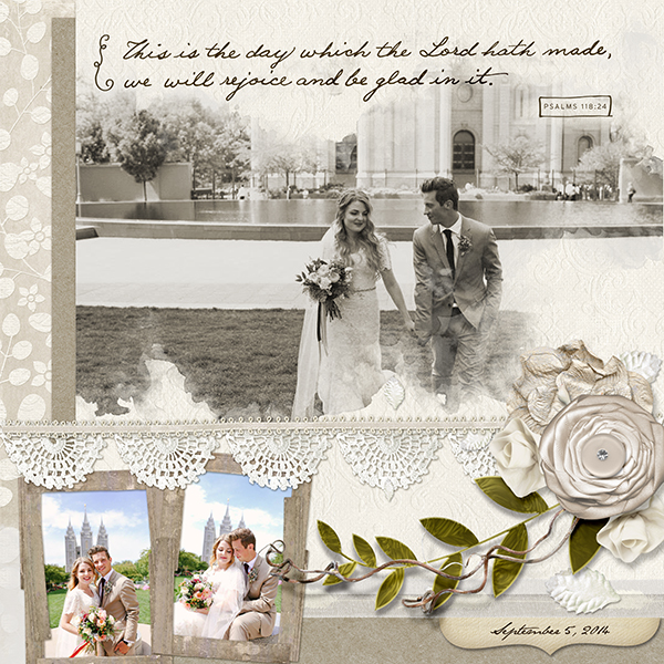 Digital scrapbook layout by Cherise Oleson (See below for supplies used and links to products)