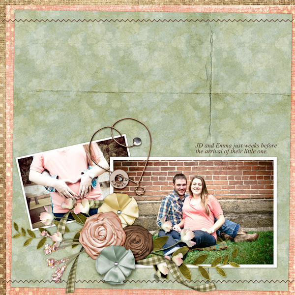 Layout by Angie Briggs (See below for supplies used and links to products)
