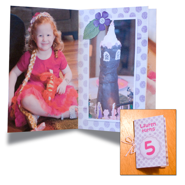 """Lauren turns 5"" Mini Album by Cherise Oleson (see supplies used listed below)"