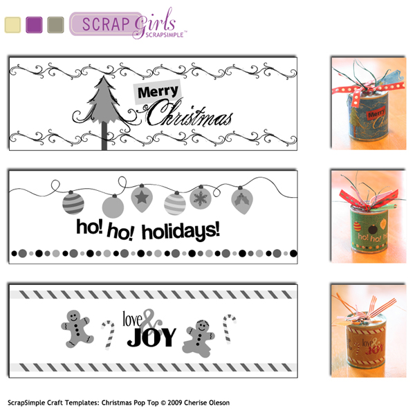 You may also be interested in ScrapSimple Craft Templates: Christmas Pop Top
