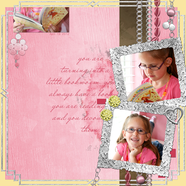 Layout by Joann Brown, using ScrapSimple Embellishment Templates: Treasured Trinkets (See additional supplies below)
