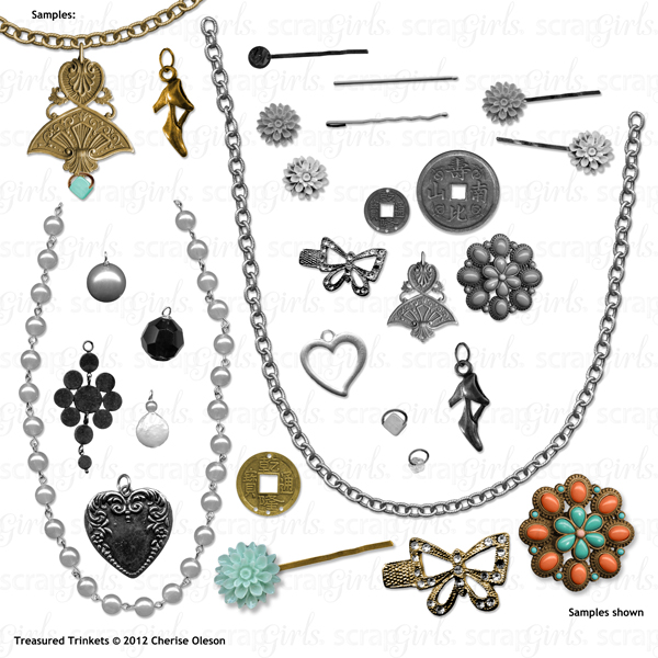 "Also available: <a href=""http://store.scrapgirls.com/product/25779/"">Scrapsimple Embellishment Templates: Treasured Trinkets</a><br /><i>(sold separately)</i>"