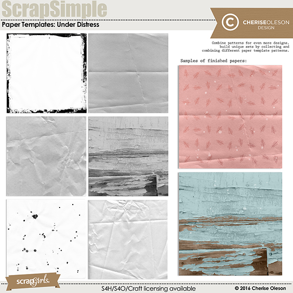 Scrapsimple Paper Templates: Under Distress