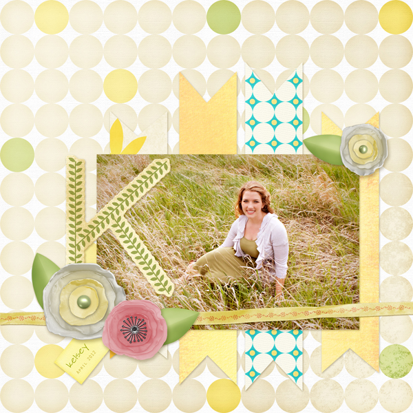 Layout by Cherise Oleson using Spring Beauty Collection Mini, Photography by Megan Edmunds Photography