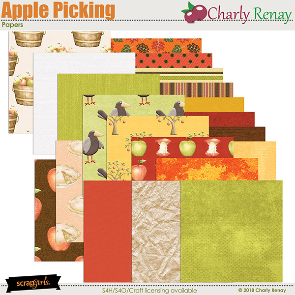 Apple Picking Papers By Charly Renay