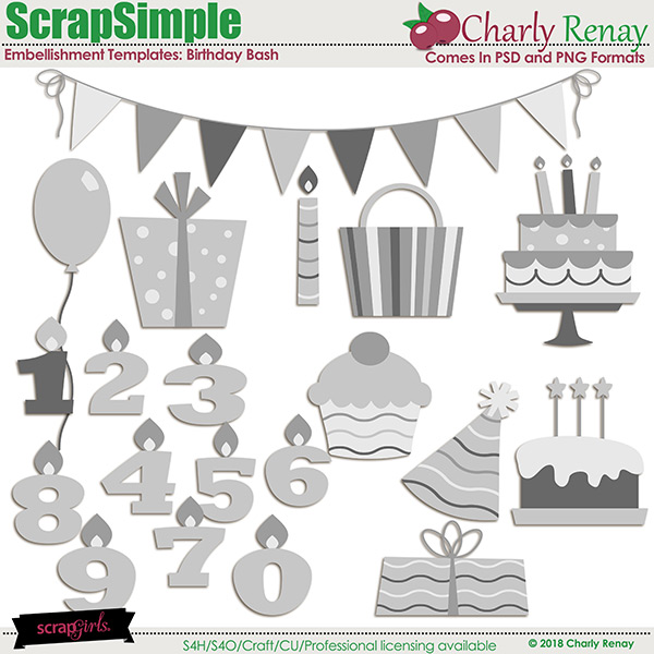 Birthday Bash Templates By Charly Renay