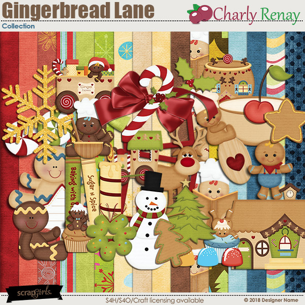Gingerbread Lane Collection By Charly Renay