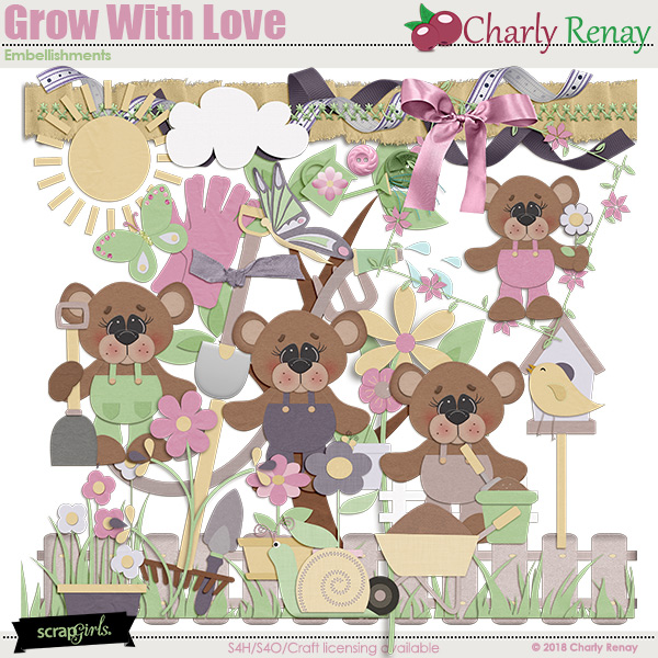 Grow With Love Embellishments By Charly Renay