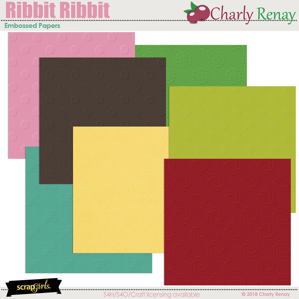 Ribbit Ribbit Embossed Papers By Charly Renay