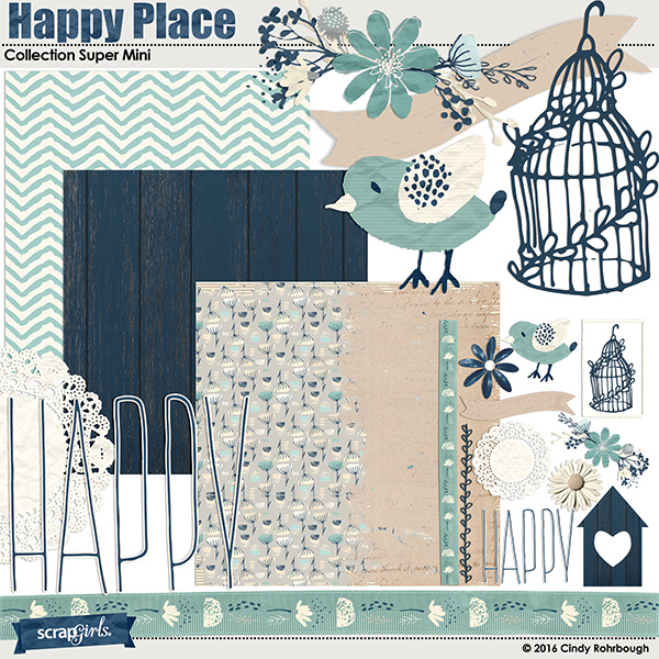 Happy Place Collection Super Mini By Cindy Rohrbough