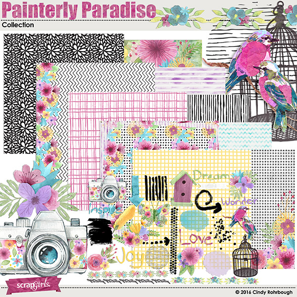Painterly Paradise Collection Mini by Cindy Rohrbough